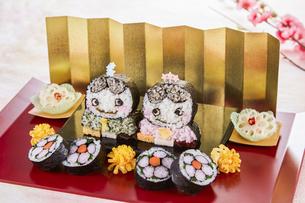 キャラ巻き寿司の写真素材 [FYI04662212]