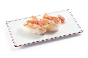 生海老の握り寿司 (raw shrimp)の写真素材 [FYI04662268]