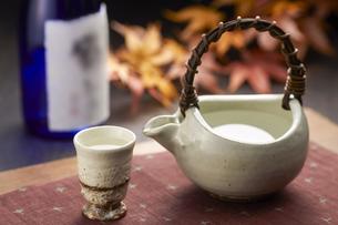 日本酒 紅葉 温燗の写真素材 [FYI04662512]