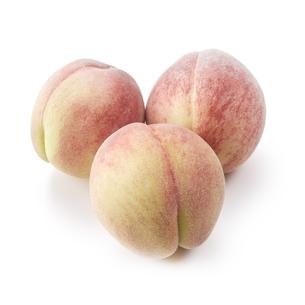 桃が3個-白バック-切り抜きの写真素材 [FYI04662922]