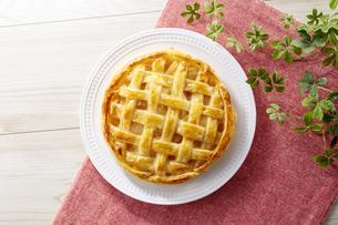 アップルパイ (homemade apple pie)の写真素材 [FYI04662990]