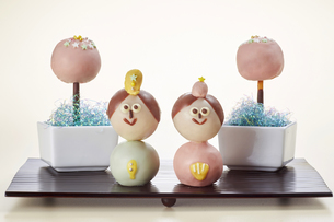 お菓子で作った雛人形の写真素材 [FYI04662995]