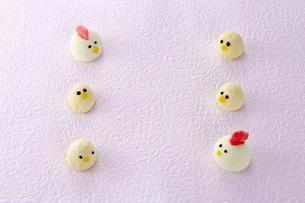 酉年 スイーツ(マシュマロ) 鶏 ひよこの写真素材 [FYI04663045]