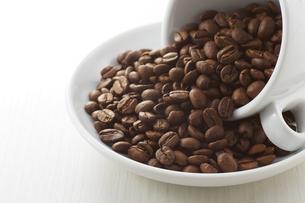 コーヒー豆とカップの写真素材 [FYI04663077]