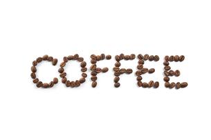コーヒー豆で「COFFEE」の写真素材 [FYI04663079]