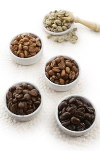 いろいろな種類のコーヒー豆の写真素材 [FYI04663085]