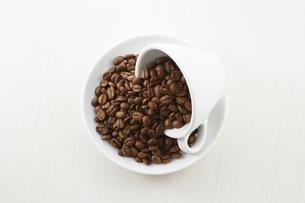 コーヒー豆とカップの写真素材 [FYI04663089]