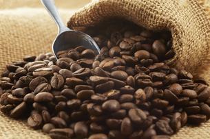麻袋に入ったコーヒー豆の写真素材 [FYI04663091]