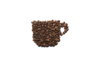 コーヒー豆でコーヒーカップの写真素材 [FYI04663097]