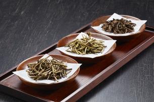 ほうじ茶(棒茶 加賀棒茶 ノーマル)3種類の写真素材 [FYI04663210]