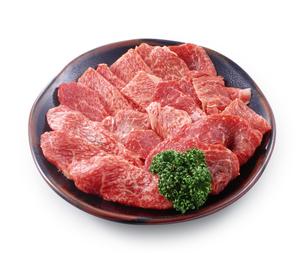 牛焼肉 皿盛りの写真素材 [FYI04663523]