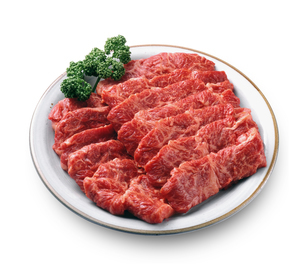 牛肉(生肉) 焼肉用の写真素材 [FYI04663529]