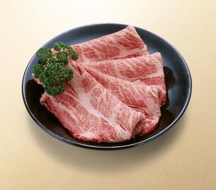 和牛すき焼き用 肩ロースの写真素材 [FYI04663575]