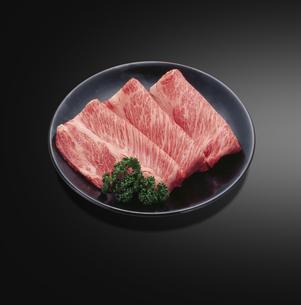 黒毛和牛すき焼き用の写真素材 [FYI04663602]