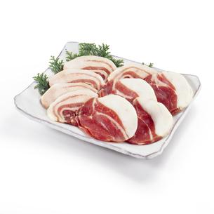猪肉 ボタン鍋用(バック飛ばし、影イキ)の写真素材 [FYI04663703]