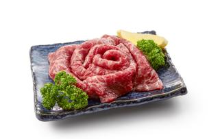 国産牛焼き肉用の写真素材 [FYI04663729]