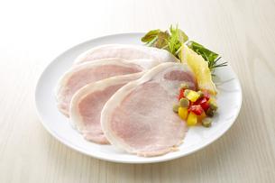 ロースハム (pork loin ham)の写真素材 [FYI04663805]