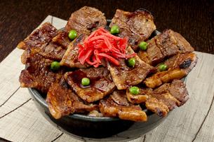 ボリューム満点の豚丼の写真素材 [FYI04663857]