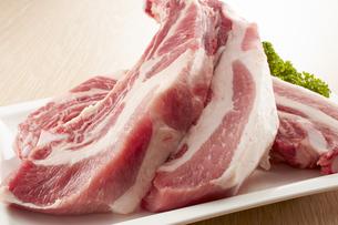 豚スペアリブ (pork spare ribs)の写真素材 [FYI04663941]