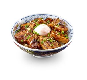 角煮丼 温泉卵のせの写真素材 [FYI04663949]