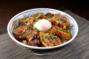 角煮丼 温泉卵のせの写真素材 [FYI04663966]