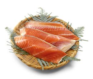 鮭切身の写真素材 [FYI04664274]