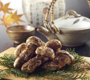 松茸と土瓶の写真素材 [FYI04664688]