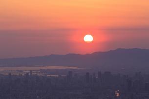 生駒山上からの素晴らしい夕景の写真素材 [FYI04665144]