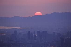 生駒山上からの素晴らしい夕景の写真素材 [FYI04665147]
