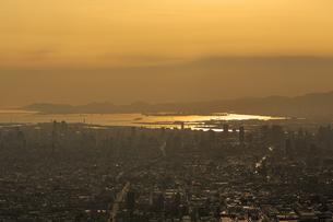 生駒山上からの素晴らしい夕景の写真素材 [FYI04665149]