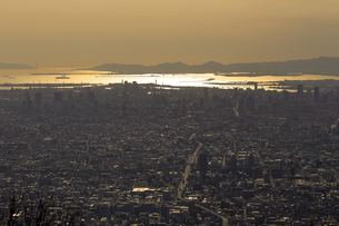 生駒山上からの素晴らしい夕景の写真素材 [FYI04665151]