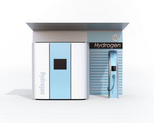 水素ステーションの正面イメージの写真素材 [FYI04665756]