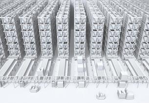 大型自動物流センターのインテリアのホワイトェーディングイメージの写真素材 [FYI04665757]