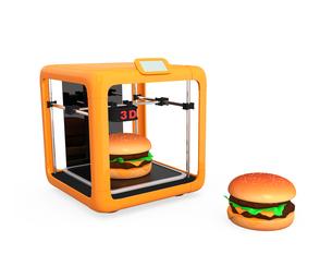 3Dプリンタでハンバーガーを作るの写真素材 [FYI04665770]