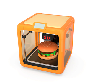 3Dプリンタでハンバーガーを作るの写真素材 [FYI04665773]
