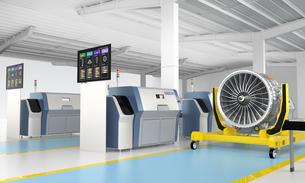 3Dプリントによる生産のスマート工場コンセプトの写真素材 [FYI04665778]