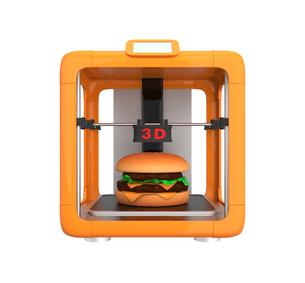 3Dプリンタでハンバーガーを作るの写真素材 [FYI04665780]