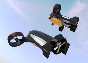 垂直昇降と水平飛行2モード備えた宅配ドローンの写真素材 [FYI04665785]
