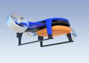 垂直昇降と水平飛行2モード備えた宅配ドローンの写真素材 [FYI04665786]