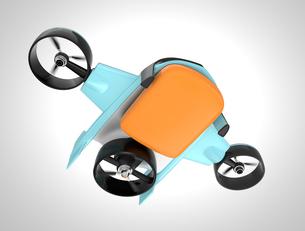 垂直昇降と水平飛行2モード備えた宅配ドローンの写真素材 [FYI04665791]