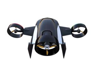 垂直昇降と水平飛行2モード備えた宅配ドローンの写真素材 [FYI04665792]