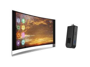スティック型PCと4K曲面テレビの写真素材 [FYI04665803]