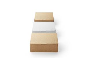 3つ縦に並べた箱の写真素材 [FYI04666010]