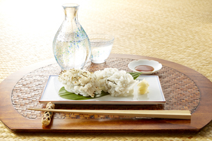 ハモ寿司 (parboiled conger pike Sushi)の写真素材 [FYI04666091]