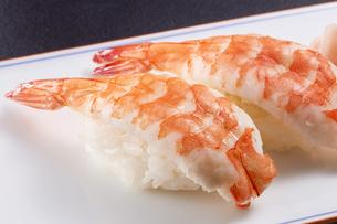 海老の握り寿司 (shrimp)の写真素材 [FYI04666098]