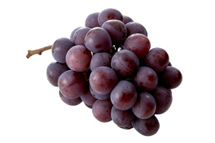 Pione (grape) isolated on white backgroundの写真素材 [FYI04666127]
