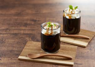 コーヒーゼリー (coffee jelly)の写真素材 [FYI04666174]