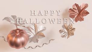 Halloween,Pumpkin,Metallic,かぼちゃ,CG,ハロウィン,秋,金属,フレーム_titleのイラスト素材 [FYI04666475]