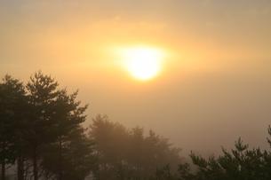 海霧と朝日の写真素材 [FYI04666558]