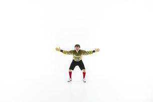 両手を広げるゴールキーパーの写真素材 [FYI04666749]